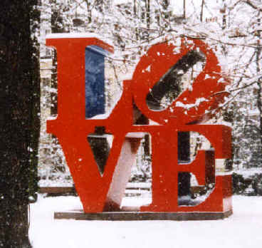 LOVE sculpture by artist Robert Indiana.