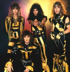80's Hair Band Stryper - True Story, a friend got hit in the head with a mini-Bible as Stryper threw them into the audience in lieu of guitar picks.
